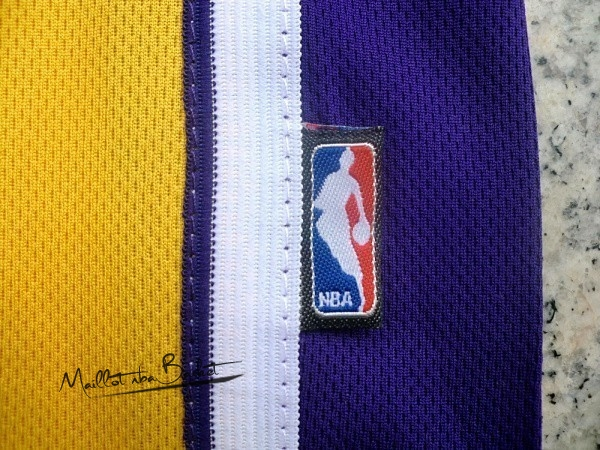 Maillot NBA Los Angeles Lakers NO.24 Kobe Bryant Jaune