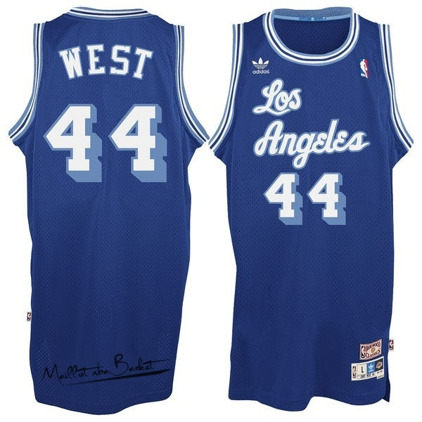 Maillot NBA Los Angeles Lakers NO.44 Jerry West Bleu