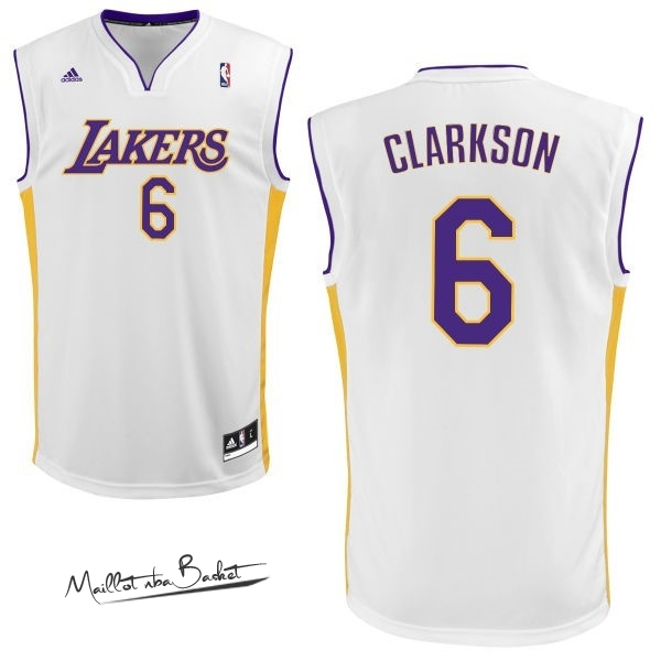 Maillot NBA Los Angeles Lakers NO.6 Jordan Clarkson Blanc