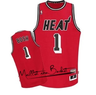 Maillot NBA Miami Heat NO.1 Chris Bosh Retro Rouge