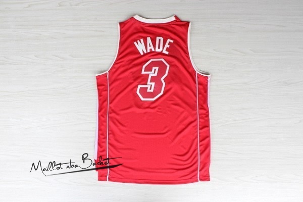 Maillot NBA Miami Heat NO.3 Dwyane Wade Rouge