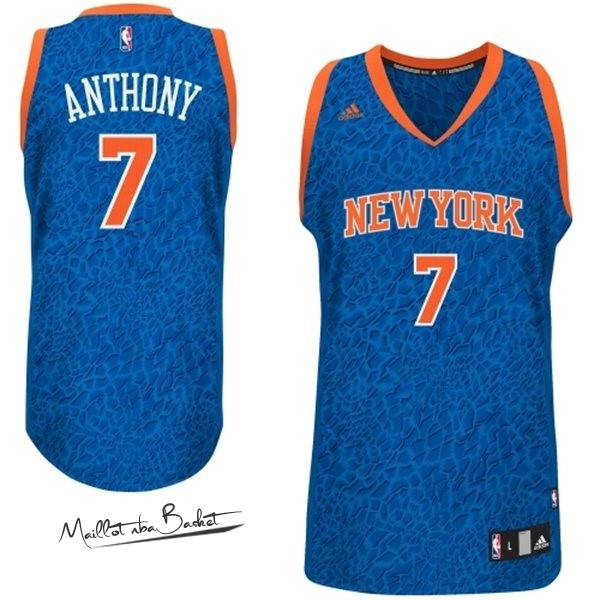 Maillot NBA New York Knicks Luz Léopard NO.7 Anthony Bleu