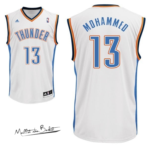 Maillot NBA Oklahoma City Thunder NO.13 James Harden Blanc
