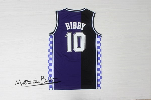 Maillot NBA Sacramento Kings NO.10 Mike Bibby Retro Bleu