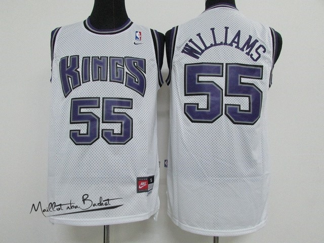 Maillot NBA Sacramento Kings NO.55 Jason Williams Blanc