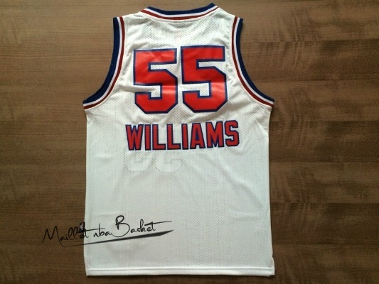 Maillot NBA Sacramento Kings NO.55 Jason Williams Retro Blanc