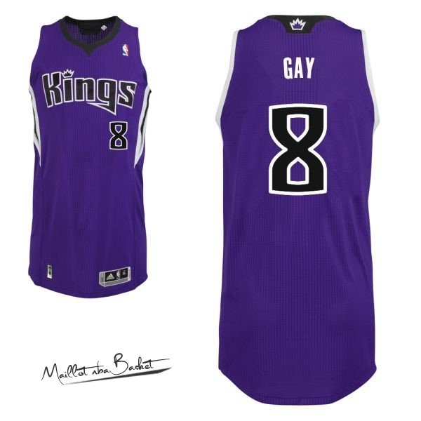 Maillot NBA Sacramento Kings NO.8 Rudy Gay Pourpre