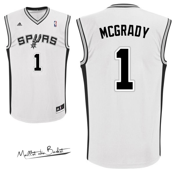 Maillot NBA San Antonio Spurs NO.1 Tracy McGrady Blanc