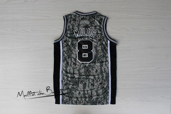 Maillot NBA San Antonio Spurs NO.8 Patty Mills Vert