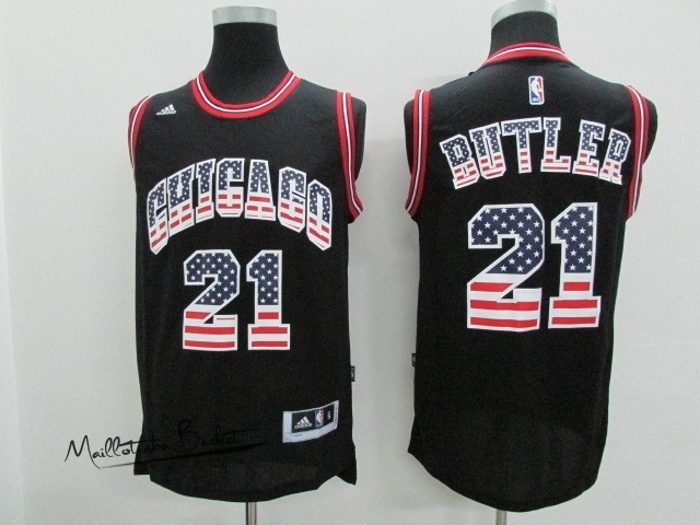 Maillot NBA USA Flag Special Edition NO.21 Butler Noir