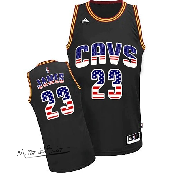 Maillot NBA USA Flag Special Edition NO.23 James Noir
