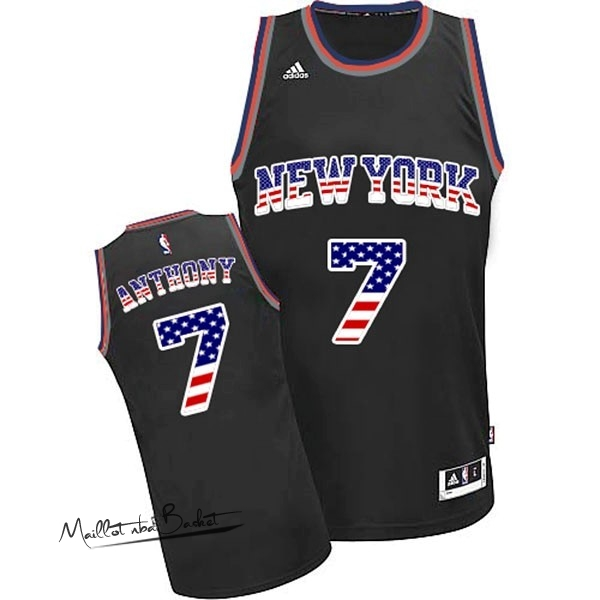 Maillot NBA USA Flag Special Edition NO.7 Antmony Noir