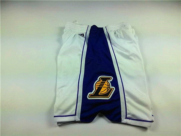 Short Basket 2015 Noël Los Angeles Lakers Blanc