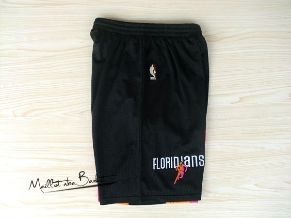Short Basket ABA Miami Heat Noir