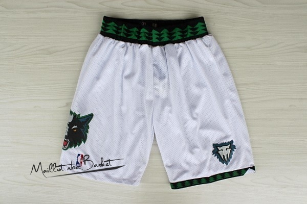 Short Basket Minnesota Timberwolves Retro Blanc