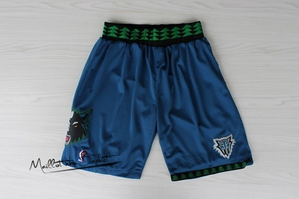 Short Basket Minnesota Timberwolves Retro Bleu