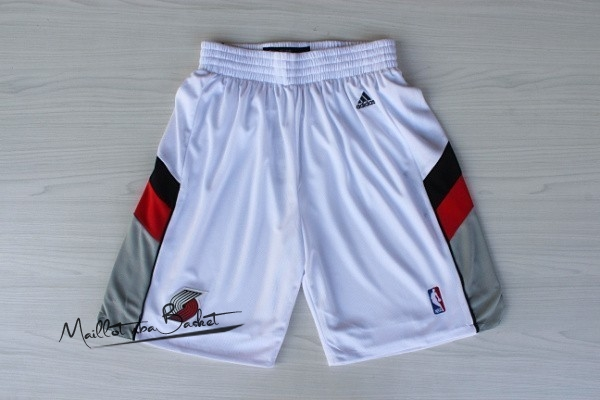 Short Basket Portland Trail Blazers Retro Blanc