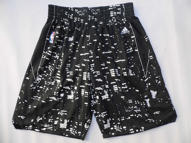 Short Basket Ville Lumières Golden State Warriors Noir