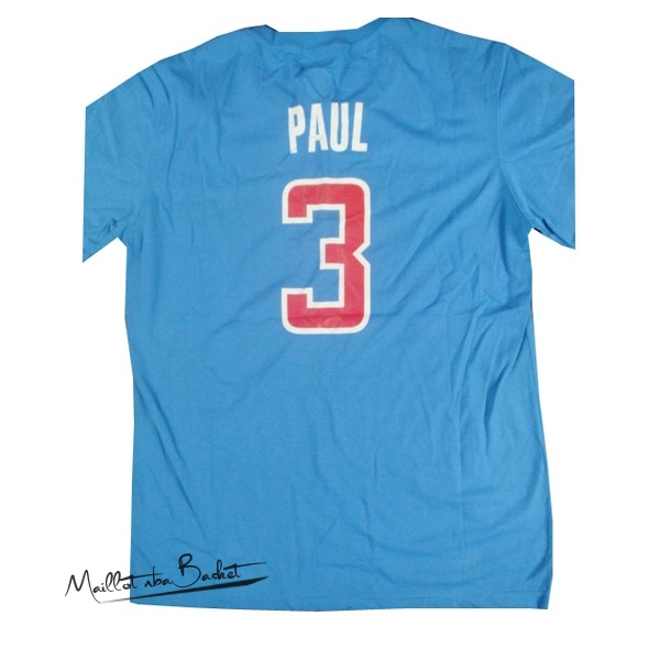 Maillot NBA Los Angeles Clippers Manche Courte NO.3 Paul Bleu
