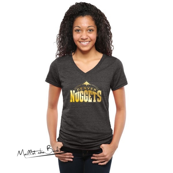 T-Shirt Femme Denver Nuggets Noir Or
