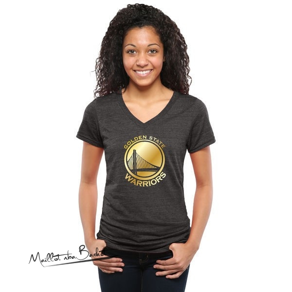 T-Shirt Femme Golden State Warriors Noir Or