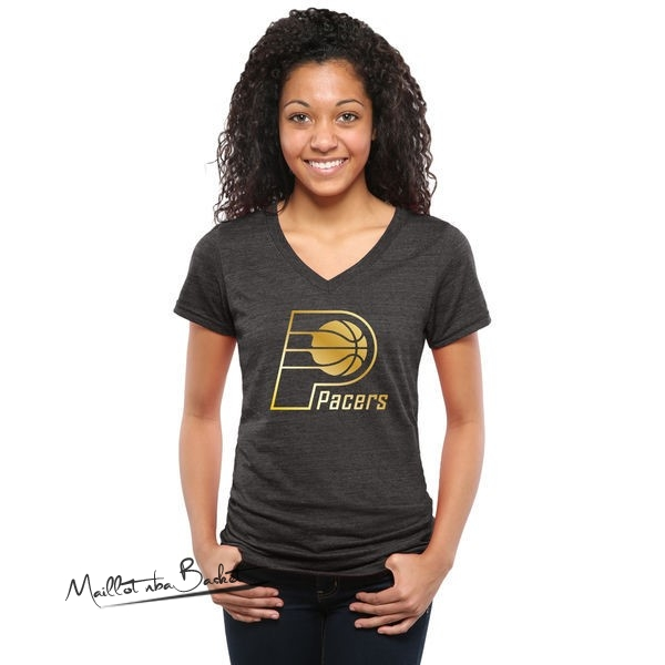 T-Shirt Femme Indiana Pacers Noir Or