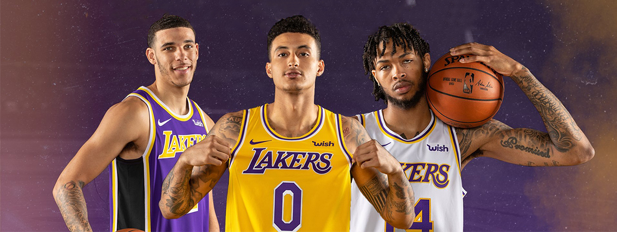 maillot laker 2018-19 Pas Cher